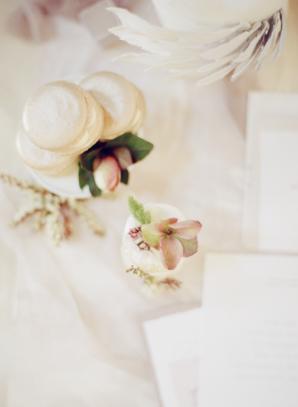 Macarons and Petite Wedding Cake