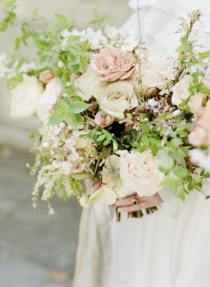 Organic Blush and Ivory Bride Bouquet