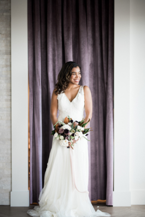 Romantic Chiffon Wedding Dress at Gray Pearl