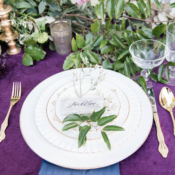 Royal Purple Wedding Place Setting
