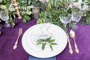 Royal Purple Wedding Place Setting
