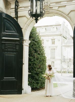 Vintage Paris Inspired Bridal Portrait