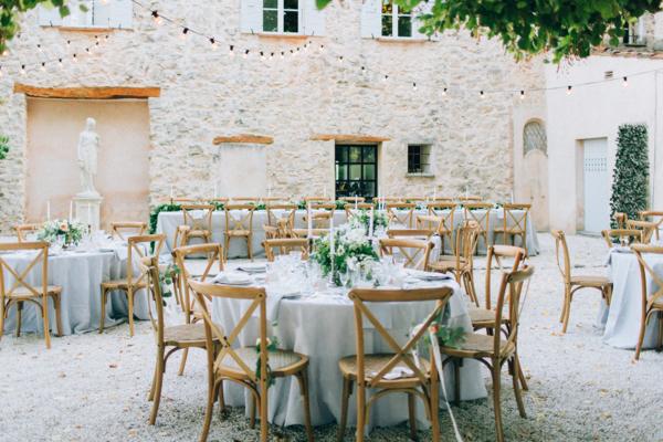 Wedding Reception at French Estate