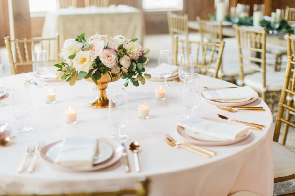 Blush Ivory and Gold Wedding Table