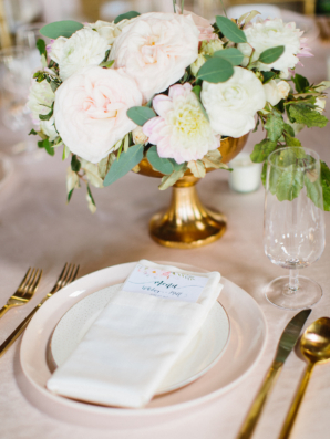 Blush and Ivory Centerpiece