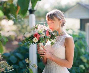 Bride in Mikaella Gown
