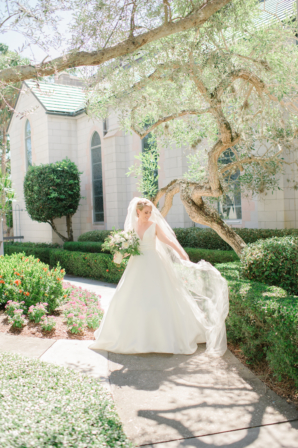 Bride in Pronovias Gown