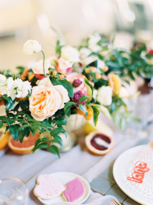 Butter Yellow and Orange Centerpiece
