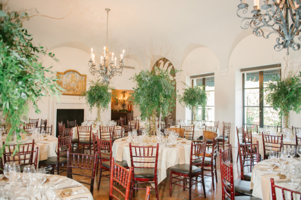 Country Club Wedding with Greenery Centerpieces