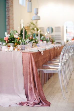 Dusty Pink and Acrylic Party Table