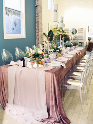 Dusty Pink and Ivory Wedding Centerpiece