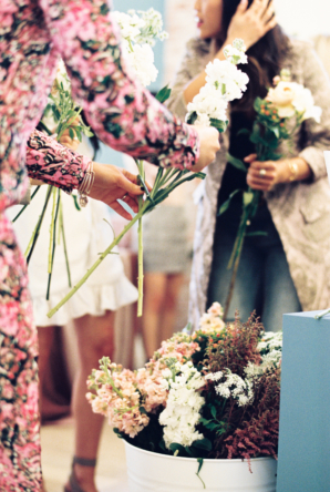 Flower Arranging at Party