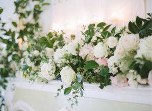 Flower Mantel at Wedding