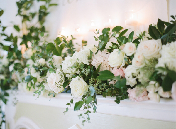 Flower Mantel at Wedding