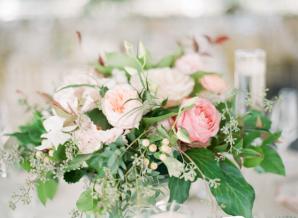 Garden Rose Wedding Centerpiece
