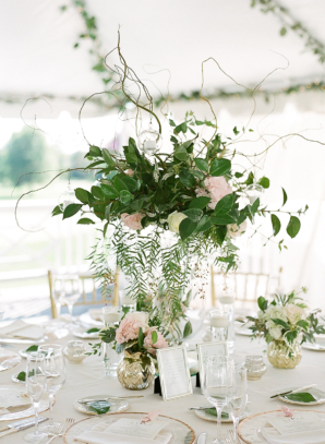 Green and Branch Centerpiece