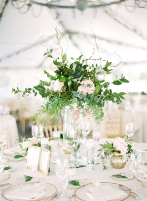 Green and Gold Wedding in Tent