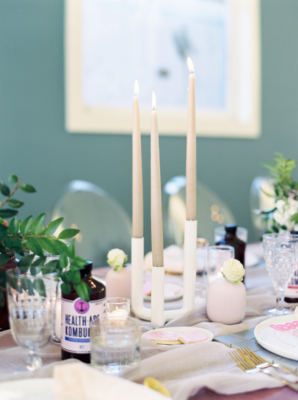 Modern Taper Candle Centerpiece