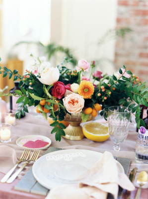 Pink and Orange Centerpiece for Valentines