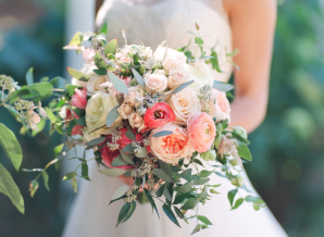 Pink and Peach Bride Bouquet