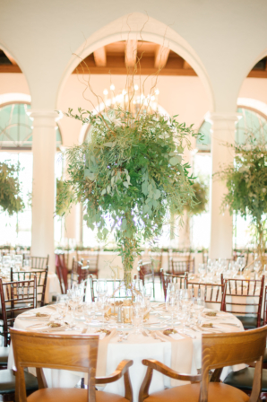 Romantic Greenery Centerpieces