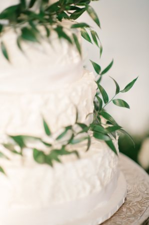 Wedding Cake with Greenery