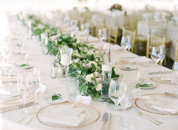White and Green Wedding Tent