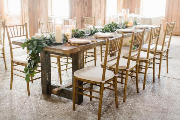 Wood and Greenery Wedding Table