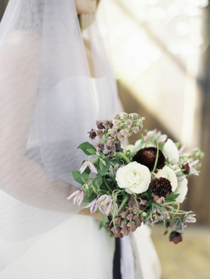 Burgundy and Mauve Bouquet