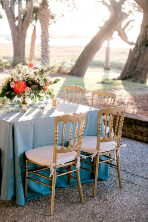 Colorful Pink Blue and Gold Wedding