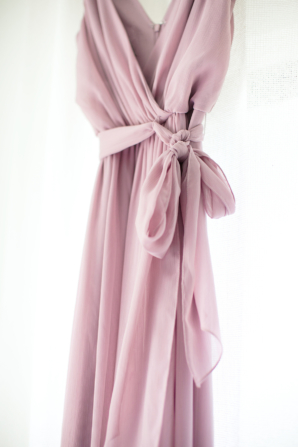 Davids Bridal Silk Wrap Dress