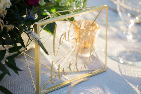 Gold Laser Cut Table Numbers