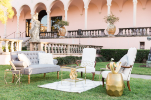 Gold and Gray Wedding Lounge