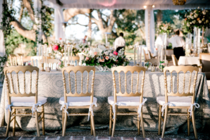 Gold and Pink Wedding with Blue Accents