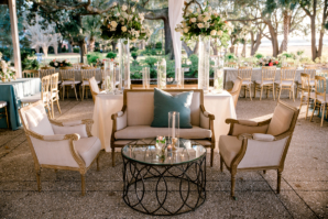 Ivory Blue and Gold Wedding Lounge