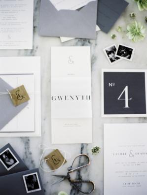 Modern Sans Serif Wedding Invitations