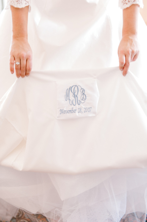 Monogram in Wedding Dress