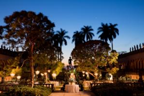 Outdoor Reception in Sculpture Garden