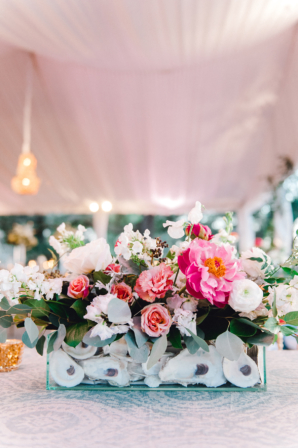 Pink and Blue Wedding with Oyster Shells