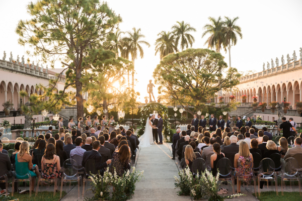 Ringling Museum Outdoor Wedding Ceremony