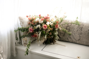 Romantic Peach Bridal Bouquet