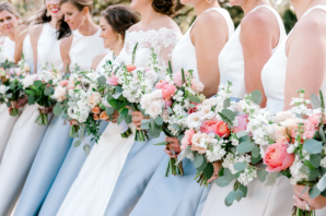 Romantic Pink and White Bouquets