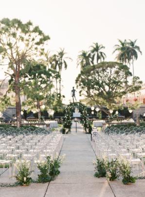 Wedding Ceremony in Sculpture Garden