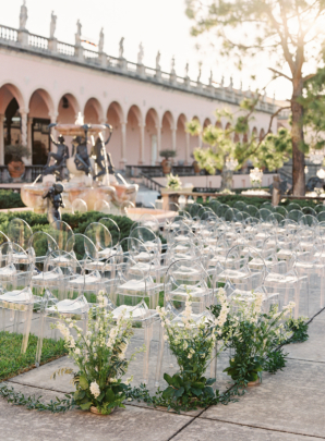 Wedding Ceremony with Ghost Chairs