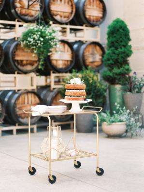 Bar Cart Cake Table