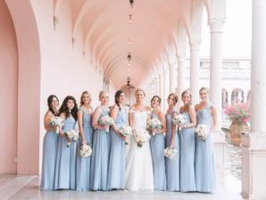 Blue Hayley Paige Bridesmaids Dresses
