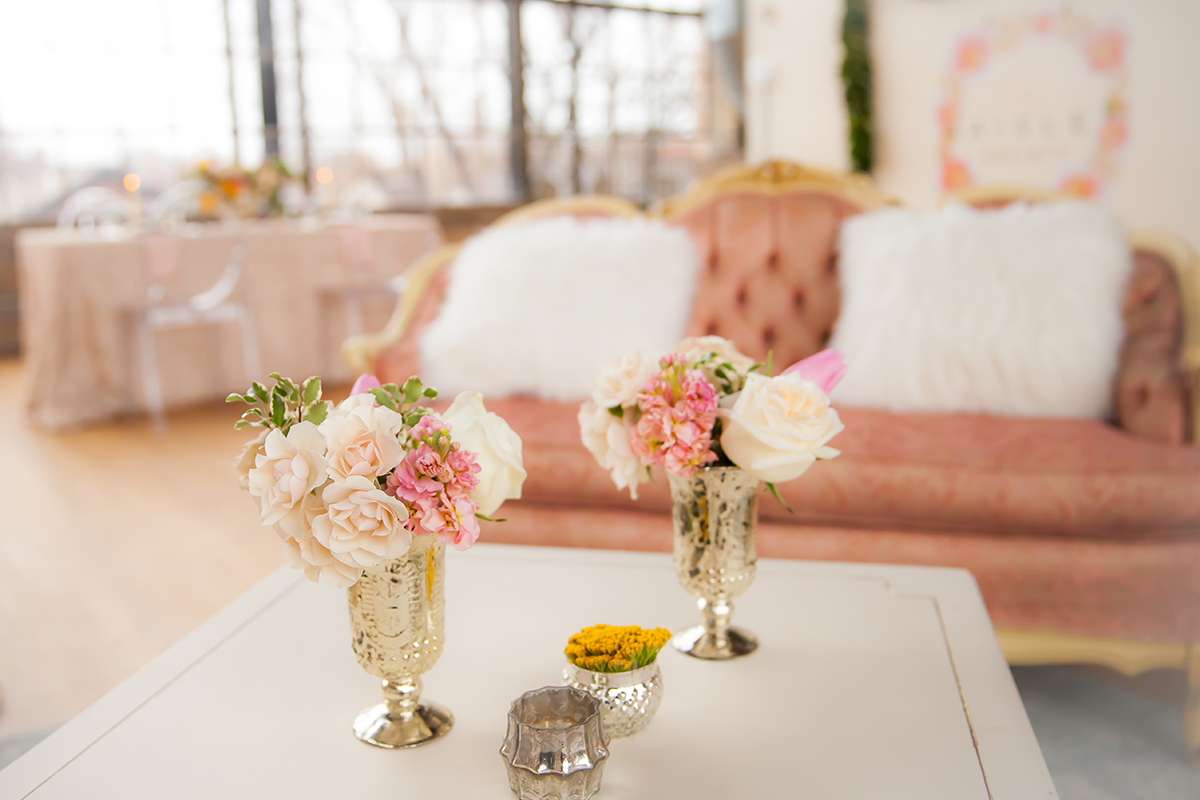 Blush and White Wedding Lounge