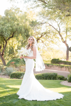 Bride in Justin Alexander