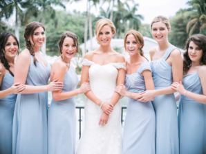 Bridesmaids in Robins Egg Blue