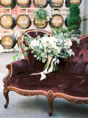 Burgundy and Green Wedding Lounge
